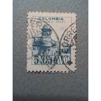 Колумбия. Форт Сан-Себастьян. 1945г. гашеная