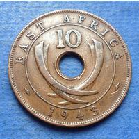 Восточная Африка Британская колония 10 центов 1943