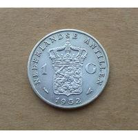 Нидерландские Антилы, 1 гульден 1952 г., серебро, Юлиана (1948-1980)