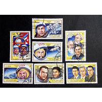 Куба 1981 г. 20 лет первого полета человека в космос, полная серия из 7 марок #0155-K1P12