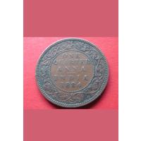Британская Индия 1884. Достаточно редкая монета. 1/4 Анна. Без минимальной цены