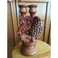 Керамика - Подсвечник на 2 свечи, Лев