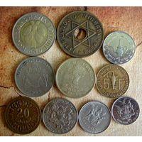 Монеты Африки. 10 монет - 10 стран. 1959 - 2017 г.