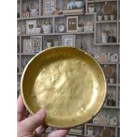 1856 год. Старинная чаша для весов - 1 шт, латунная, диаметр 20 см