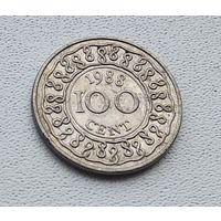 Суринам 100 центов, 1988 1-3-29