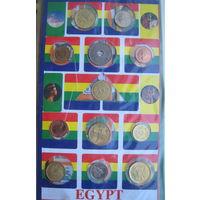 Египет 12 монет, 12 марок в подарочной упаковке