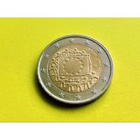 Литва. 2 евро 2015 - 30 лет флагу Европейского союза.