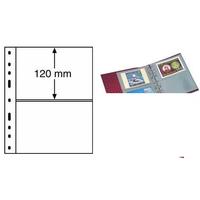 Лист на 2 боны (банкноты, купюры конверты карточки открытки) 2S (черный) Leuchtturm, формат ОПТИМА