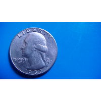 США 25 центов 1982г D. распродажа