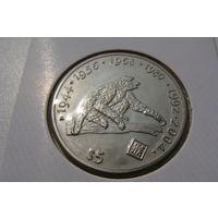 Либерия. 5 долларов 1997 год /Год обезьяны/ KM#359