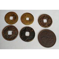6 монет старого Китая