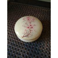 Старая шкатулка оникс ручная роспись