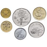 Сейшельские острова набор 6 монет 1982-1997 UNC