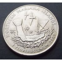США. 25 центов 2009. Nothern marina island /P/