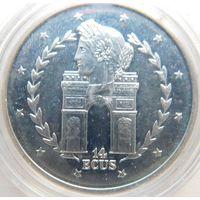 19. Гибралтар 14 экю 1995 год, серебро*