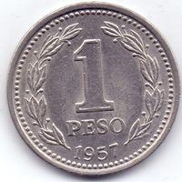 Аргентина,  1 песо 1957 года.