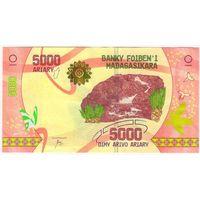 Мадагаскар банкнота 5000 ариари 2017г. НОВИНКА aUNC