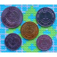 Никарагуа 10, 25, 50 сентаво, 1 и 5 Кордоб. UNC. Инвестируй в монеты планеты!