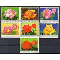Флора Розы Экваториальная Гвинея  1979 год чистая серия из 7 марок (М)