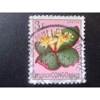 Конго 1952 колония Бельгии цветы