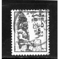 Египет.Ми-1501.Статуя Рамзеса II, Luxor. Серия: Древние Артефакты.1985.
