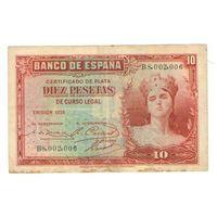 10 песет, 1935 год, Испания.
