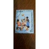 Куба 1984. Баскетбол. Марка из серии
