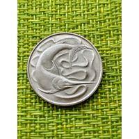Сингапур 20 цент 1977 г ( рыба меч )