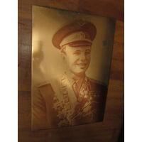 Панно СССР . Юрий Гагарин . Космос . Фотометаллографика