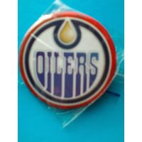 "Значок с Логотипом Хоккейного Клуба НХЛ - ""Эдмонтон Ойлерз""."