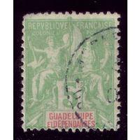 1 марка 1892 год Гваделупа 30 2