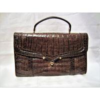 Шикарная дамская сумка из натуральной кожи крокодила! Ручная работа ! Идеальная сумка для деловой дамы! планшет укладывается прекрасно...Производство Германия. IRV - пломба.