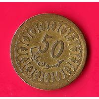 49-40 Тунис, 50 миллимов 1960 г.