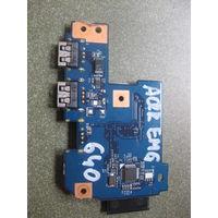 Плата USB с картридером Acer Aspire 7551G 7741 G640 48.4HP02.011