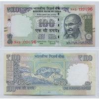 Распродажа коллекции. Индия. 100 рупий 2016 года (P-105af - 2011-2018 New Rupee Symbol Issue)