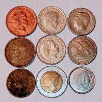 Монеты разных стран мира с рубля. 4 лот .