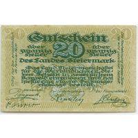 Австрия, Нотгельд 20 Heller 1920 год.