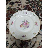 Антикварная тарелка Германия конец 19 в фарфор в идеальном состоянии