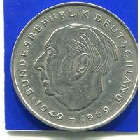Германия 2 марки 1973 F