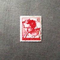 Марка Италия 1961 год Стандартный выпуск Фреска