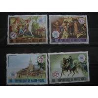 Марки - Буркина-Фасо (Верхняя Вольта), 200 лет независимости Америки, фауна, лошади, архитектура, война