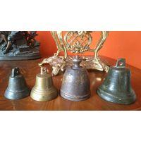 Старинные колокольчики . бронза 3 штуки
