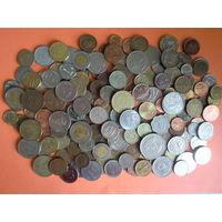 170 шт. всяких монет мира с 1 руб