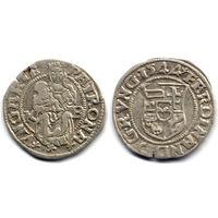 Денарий 1544 KB, Венгрия, Фердинанд I. Коллекционное состояние