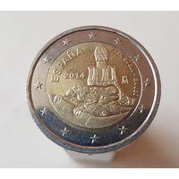 2 евро Испания 2014 г. Парк Гуэль