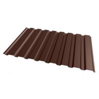 Профнастил двухсторонний коричневый