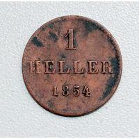 1 геллер 1854 Франкфурт