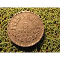 5 франков 1947 франция *743