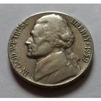 5 центов, США 1959 D
