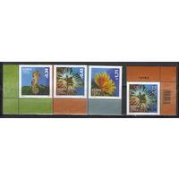 Кипр Морская фауна 2013 год + надпечатка нового номинала 2015 год чистая полная серия из 3-х марок и одиночки